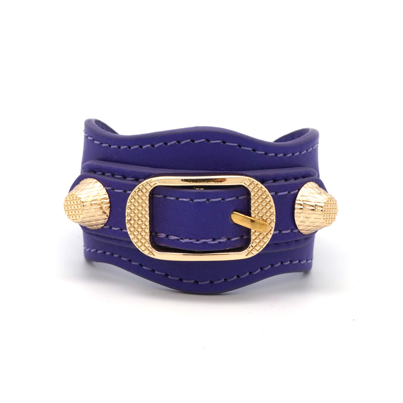 Purple stud bracelet
