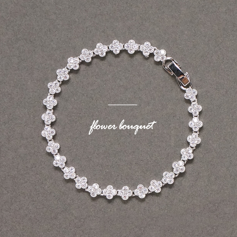 Flower bouquet cubic360 bracelet